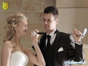 Ein Blick, ein Schlag, ein Volltreffer. - Hochzeitsgolfen ist die Spielidee bei Hochzeiten
